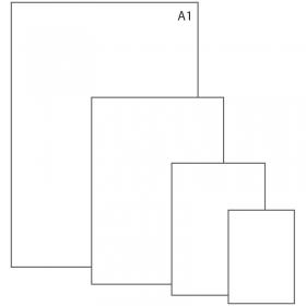 Ватман формат А1 (610 х 860мм), 1 лист, плотн. 200г/м2, ГОЗНАК С-Пб, упак. по 100 лист, водяной знак