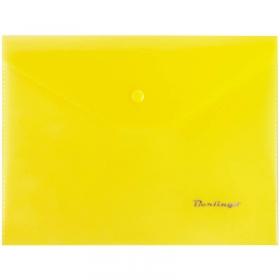 Папка-конверт на кнопке A5, 180мкм, желтая OBk_05005