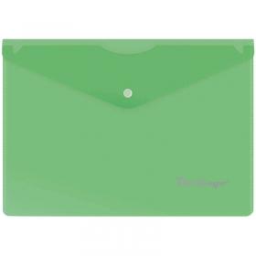 Папка-конверт на кнопке A5, 180мкм, зеленая OBk_05004