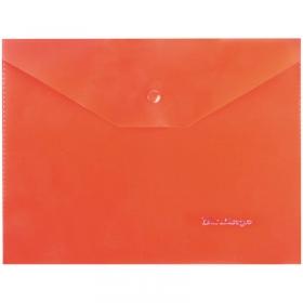 Папка-конверт на кнопке A5, 180мкм, красная OBk_05003