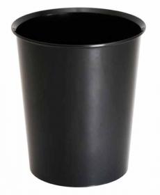 Корзина для бумаг 14л., цельная, черная КР55