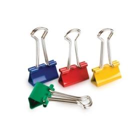 Зажимы для бумаг 19мм, 12шт., цветные, GY3/4C (цена за 12 шт -1 уп.)