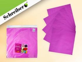 Фоамиран в листах, 50х50 см.,1 мм., 10 листов в упаковке, РОЗОВЫЙ цвет S 116