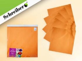 Фоамиран в листах, 50х50 см.,1 мм., 10 листов в упаковке, СВЕТЛО-ОРАНЖЕВЫЙ цвет S 118
