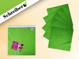 Фоамиран в листах, 50х50 см.,1 мм., 10 листов в упаковке, САЛАТОВЫЙ цвет S 122