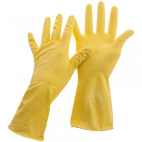 Перчатки резиновые хозяйственные OfficeClean Универсальные, р.М, желтые, пакет с европодвесом 248569