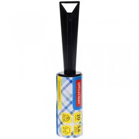 Ролик для чистки одежды OfficeClean, универсальный, для удаления пыли и ворса, 5,6м, 20 слоев 248555