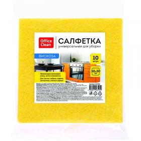 Салфетки для уборки OfficeClean, набор 10шт., вискоза, 30*30см, желтые 287980