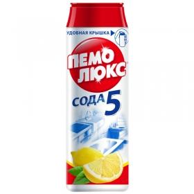 """Средство чистящее Пемолюкс """"Сода 5. Лимон"""", порошок, 480г 9000100980739"""