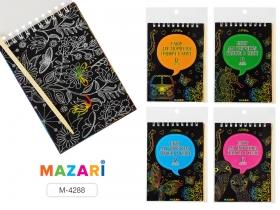 Набор для творчества «Гравюра в книге», 10 х 14 см, 12 л., с контуром,  палочка в комплект M-4288