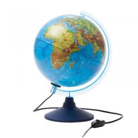 Глобус физико-политический Globen, 25см, с подсветкой на круглой подставке Ке012500191