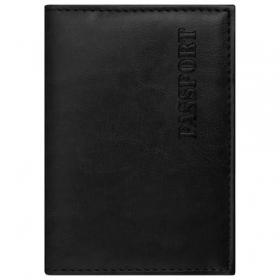 """Обложка для паспорта STAFF Profit, экокожа, мягкая вставка, """"PASSPORT"""", черная, 237183"""
