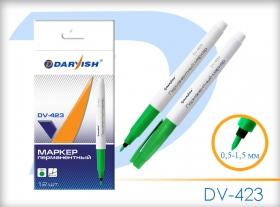"""Маркер-перманент  """"Darvish""""  зеленый очень тонкий DV-423зеленый"""