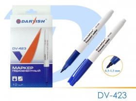 """Маркер-перманент  """"Darvish""""  синий очень тонкий DV-423синий"""