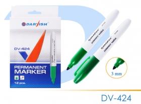"""Маркер-перманент """"Darvish""""  зеленый толстый DV-424зеленый"""