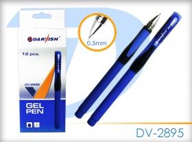 """Ручка гелевая синяя """"Darvish"""" с игольчатым стержнем DV-2895(BLUE)"""
