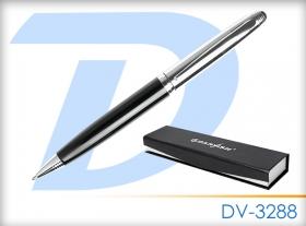 """Ручка подар. """"Darvish"""" корпус серебристо-черная в футляре DV-3288"""