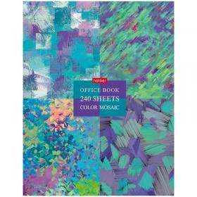 "Тетрадь на кольцах А5, 240л., (3 блока) Hatber ""Color mosaic"", глянцевая ламин. 240ТК5В1_22006"