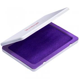 Штемпельная подушка 100*80мм, фиолетовая, пластиковая KDp_81007