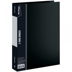 """Папка на 2 кольцах Berlingo """"Standard"""", 40мм, 700мкм, черная ABp_24101"""