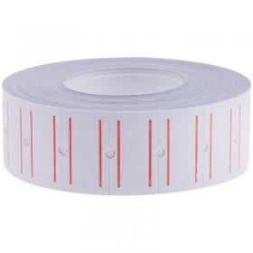 Этикет-лента OfficeSpace, 21*12мм, белая с красной полосой, 1000 этикеток Stl_4198