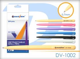 """Ручка авт. син. """"Darvish"""" корпус цветной ассорти(в банке) DV-1002"""