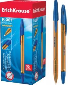 Ручка шариковая ErichKrause® R-301 Amber Stick 0.7, цвет чернил синий (в коробке по 50 шт.) 31058