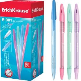 Ручка шариковая ErichKrause® R-301 Spring Stick 0.7, цвет чернил синий (в коробке по 50 шт.)
