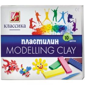 Пластилин Классика 10 цв.,стек/картон.вклад.200 гр. 7С 304-08