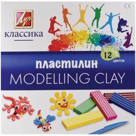 """Пластилин """"Классика"""" 12 цветов 7С 331-08"""