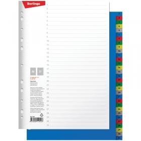 Разделитель листов Berlingo А4, 31 лист, цифровой 1-31, цветной, пластиковый ARp_04061
