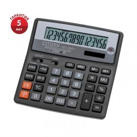 Калькулятор настольный Citizen SDC-660II, 16 разрядов, двойное питание, 156*159*32мм, черный SDC-660