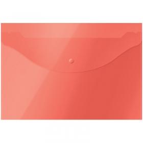 Папка-конверт на кнопке OfficeSpace  А4, 120мкм, красная 281219