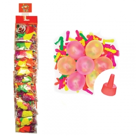 """Воздушные шары, 100шт, М2/5см, Поиск """"Водяные Бомбочки неон"""", насадка для воды, стрип-лента 46902960"""