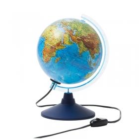 Глобус физико-политический Globen, 21см, с подсветкой на круглой подставке Ке012100181