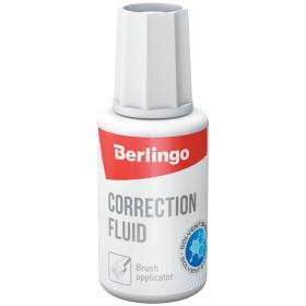 Корректирующая жидкость Berlingo, 20мл, на химической основе, с кистью KR 530