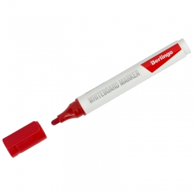 Маркер для белых досок Berlingo красный, пулевидный, 2мм PM6312
