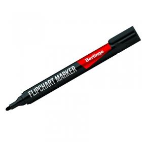 Маркер для флипчартов Berlingo черный, пулевидный, 2мм BMf_02201