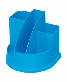 Подставка д/канц АВАНГАРД 5 отд. голуб. интенсив пластик ОР57