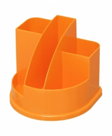 Подставка д/канц АВАНГАРД 5 отд. оранж. интенсив пластик ОР56