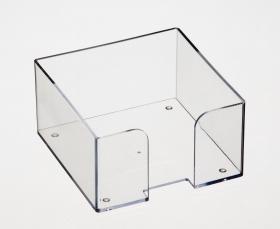 Бокс для бумажного блока Стамм, 9*9*5, прозрачный ПЛ61
