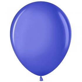 Воздушные шары,  50шт., М12/30см, MESHU, пастель, синий MS_31625
