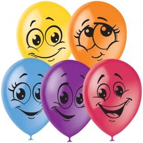 """Воздушные шары,  50шт., М12/30см, Поиск """"Улыбки"""", пастель+декор 4690296041175"""