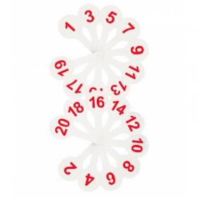 Касса (веер) цифры от 1 до 20 Стамм ВК05