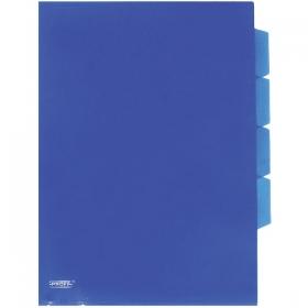 """Папка-уголок A4 с 3-мя отделениями прозрачная синяя 0.18 мм """"Proff"""" CH410-TF-04"""