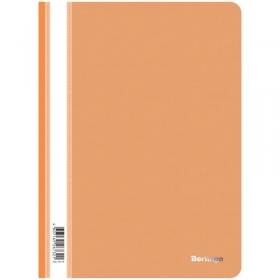 Папка-скоросшиватель пластик. Berlingo, А4, 180мкм, оранжевая с прозр. верхом ASp_04116