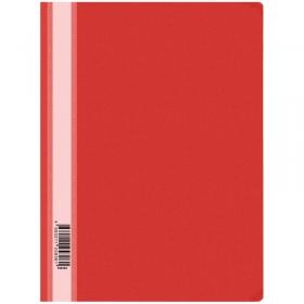 Папка-скоросшиватель пластик. OfficeSpace, А4, 160мкм, красная с прозр. верхом Fms16-4_717/ 162563