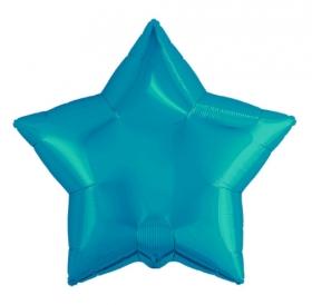 Шар Agura Звезда бирюзовый (21/53 см., 1 шт.) Т-0776 цена за 1шт