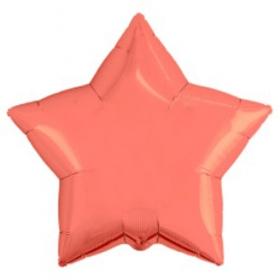 "Шар Agura Звезда ""Коралл"" однотон (21д, 50см, 25ш) 753156 цена за 1шт"