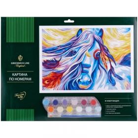 "Картина по номерам Greenwich Line ""Сказочная лошадь"" A3, с акриловыми красками, картон, европодвес К"